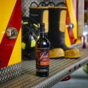 josh cellars reserve firefighters bottle